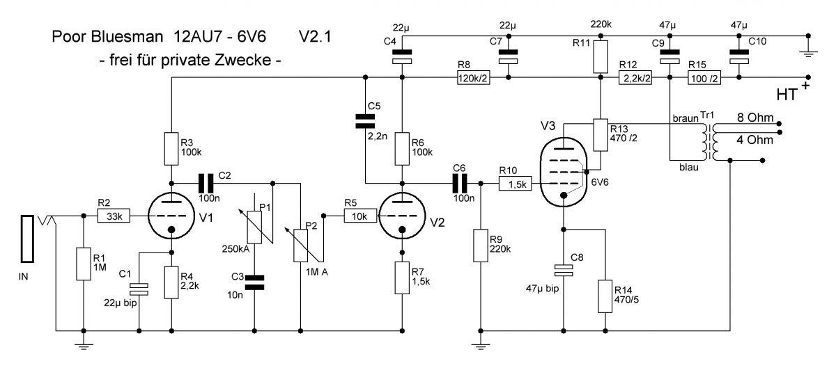 Amplifiers - Eigene Verstärker - Poor Bluesman - harpamps.de
