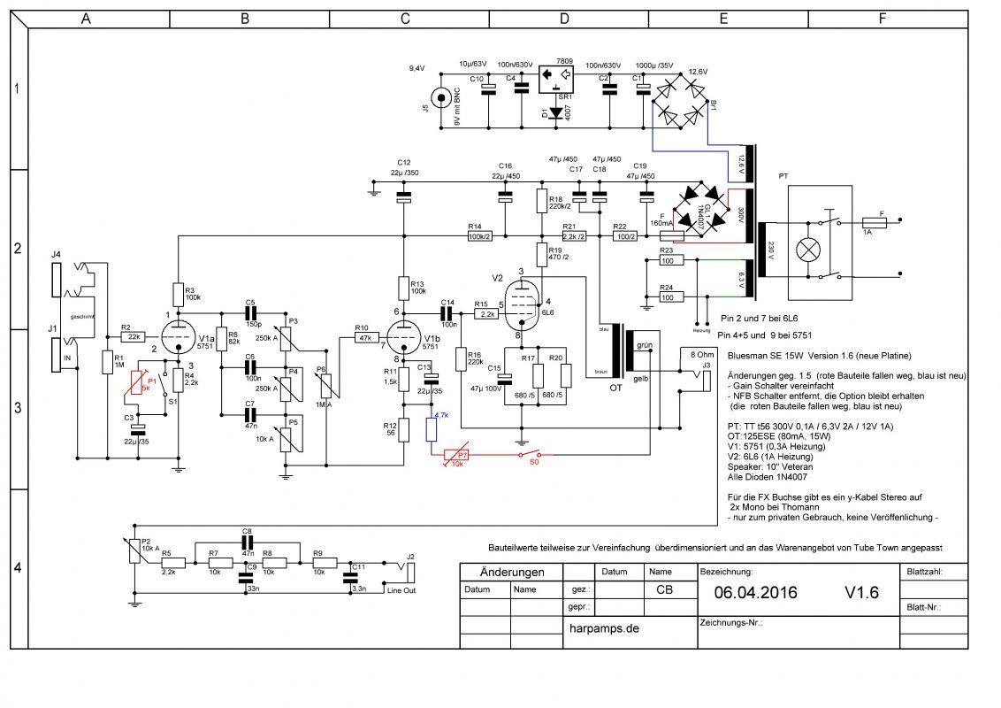 Amplifiers - Eigene Verstärker - Bluesman SE - harpamps.de on