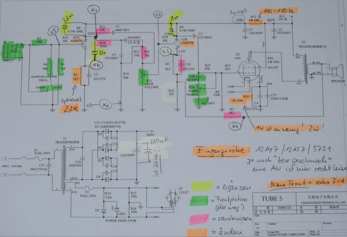 Amplifiers - Modifikationen - Fame Tube 5 - harpamps.de on