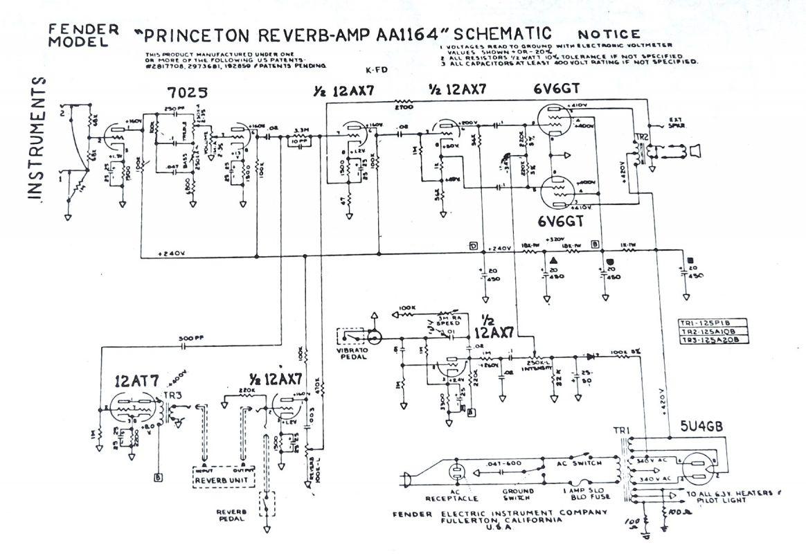 Tech - Grundschaltungen - harpamps.de Fender Super Champ Schematic on