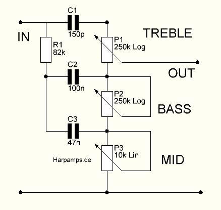 Fender Tone Stack | Wiring Diagrams